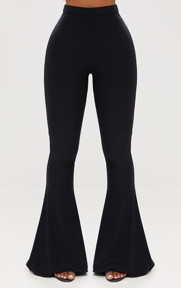 Shape Black Slinky Flared Leg Pants 2