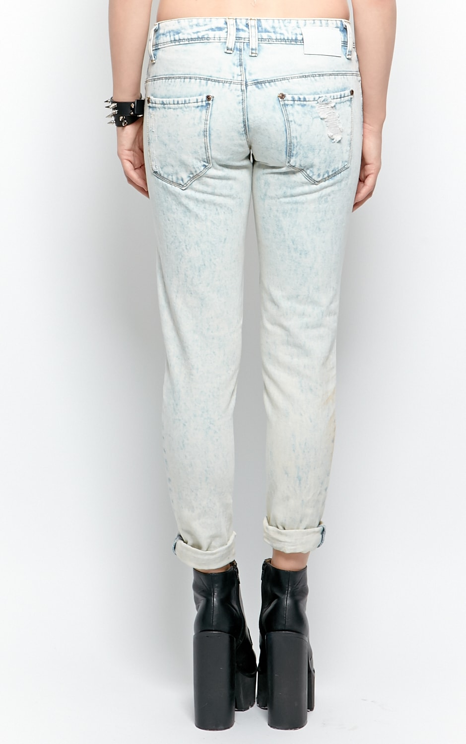 Bambi Bleach Denim Rip Jeans 3