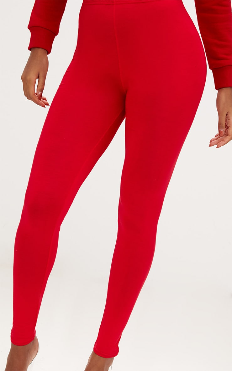 Basic Red and Camel Jersey Leggings 2 Pack 5