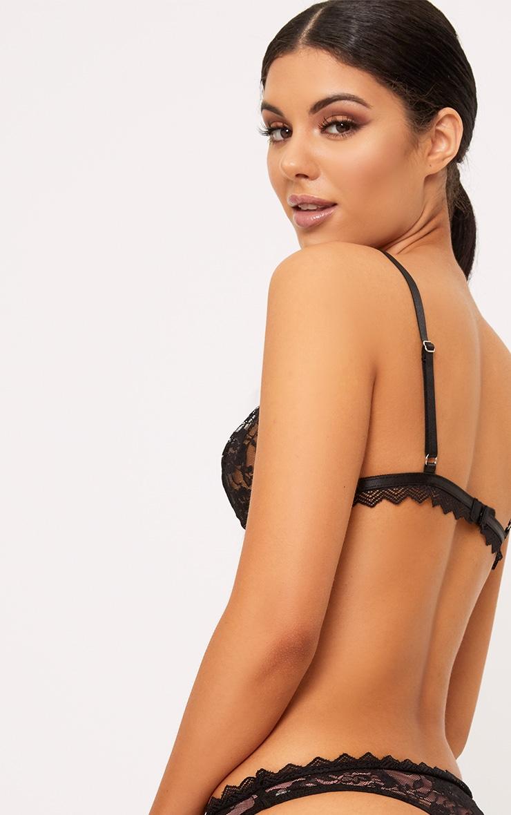 Zerlina Black Lace Harness Soft Bra 2