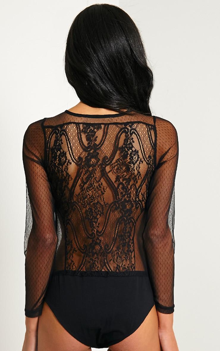 Rosy Black Lace Bodysuit 7