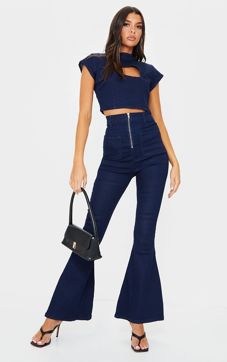 Indigo Kick Flared Jeans 1