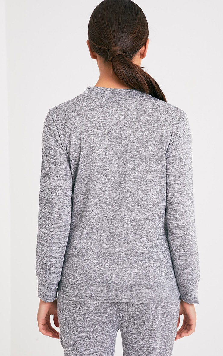 Cally Grey Applique Tracksuit Sweater 2