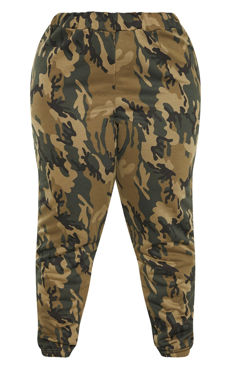 Plus Khaki Camo Track Pants 3