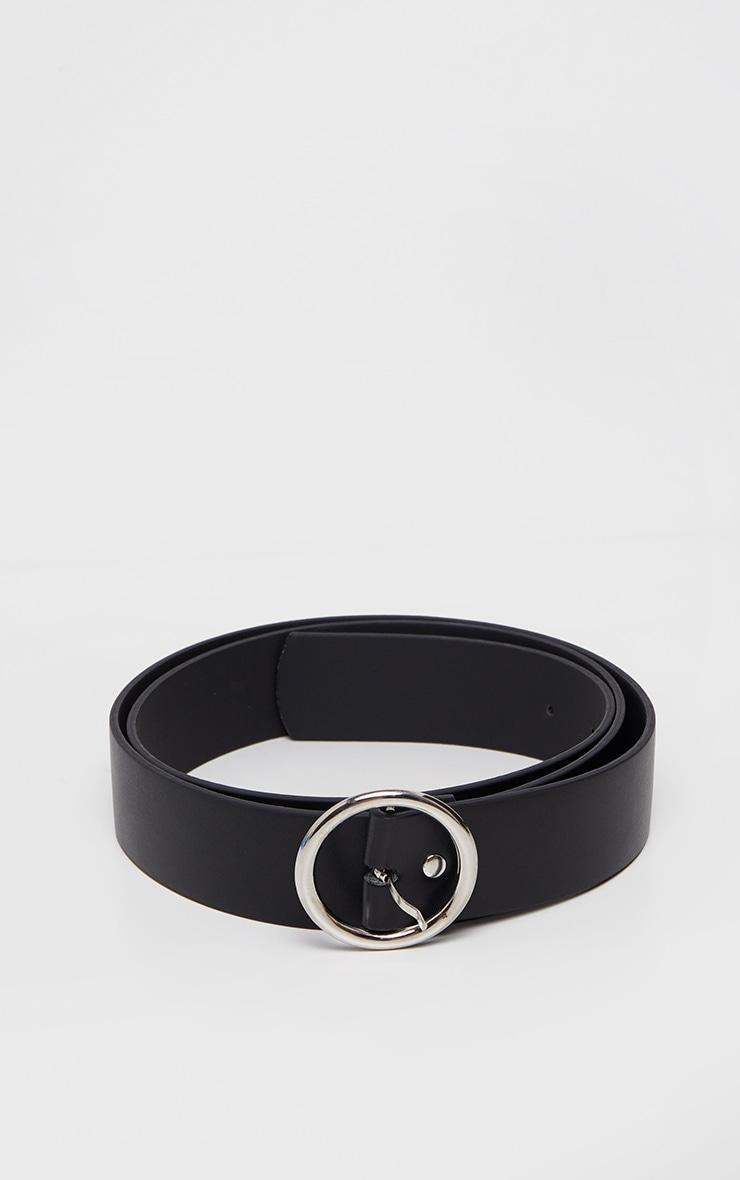 Plus Black Faux Leather Circle Detail Belt 2