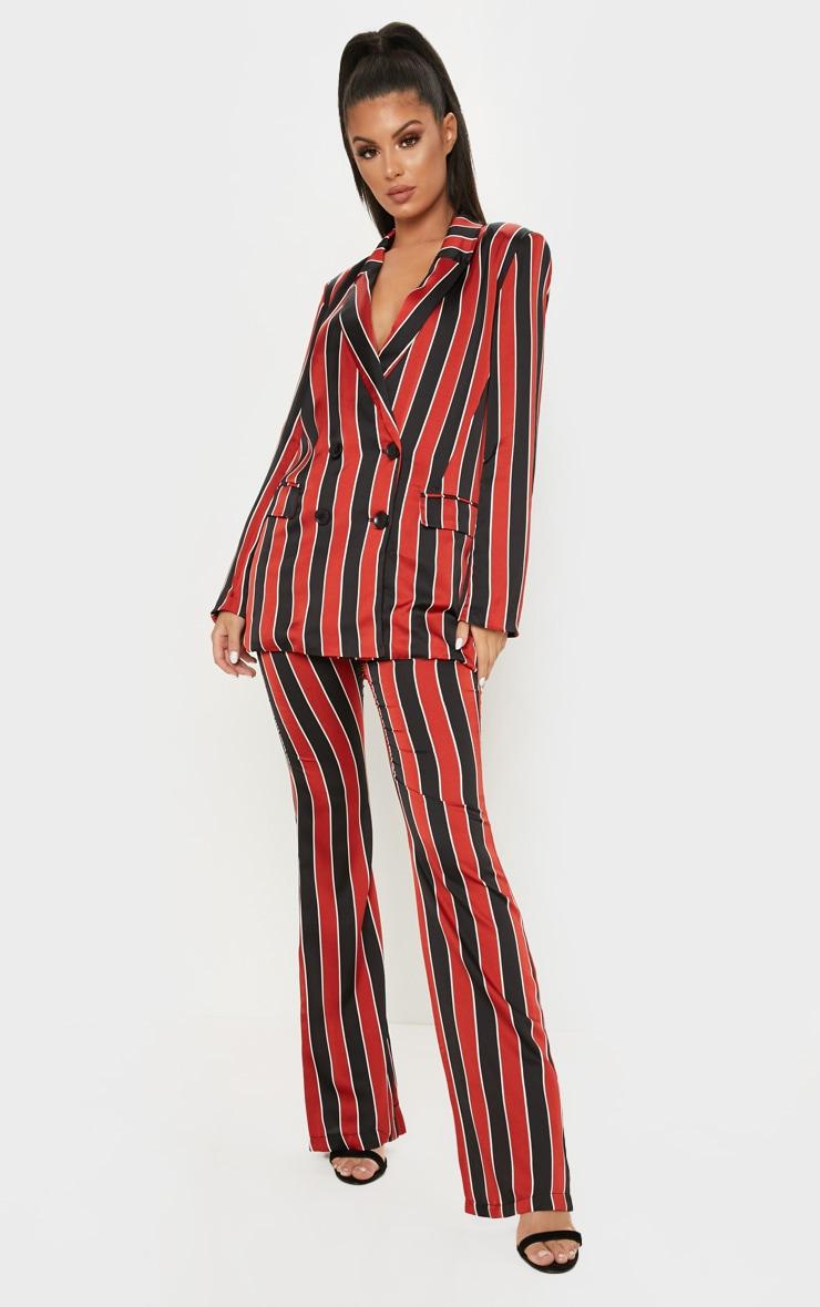 Red Stripe Straight Leg Trouser  1