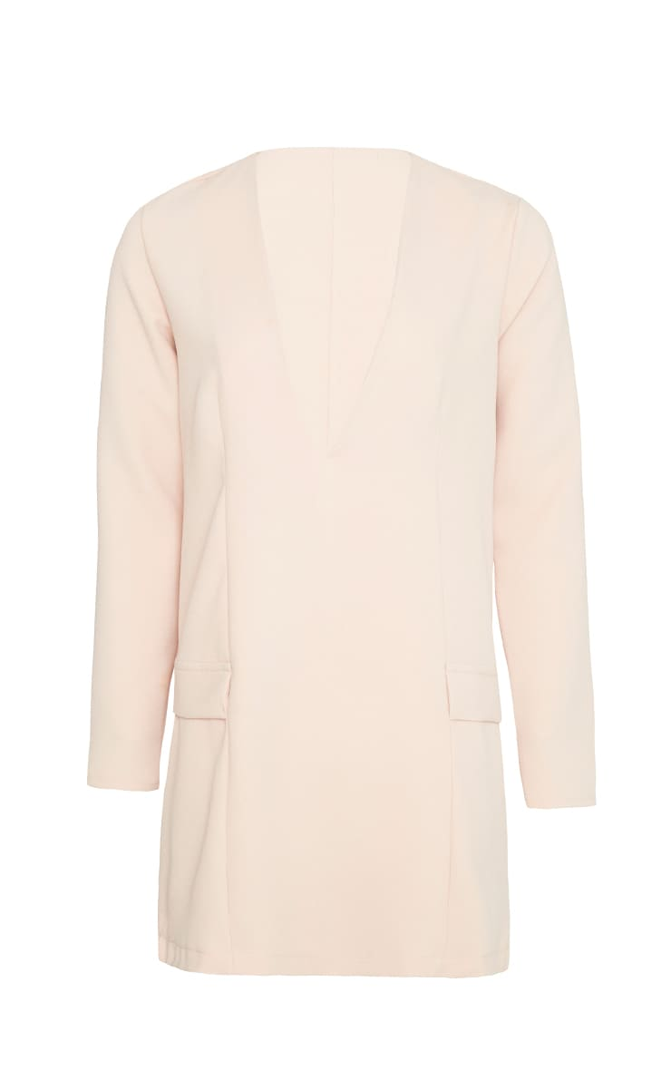 Jemima Nude Loose Fit Blazer Dress 4