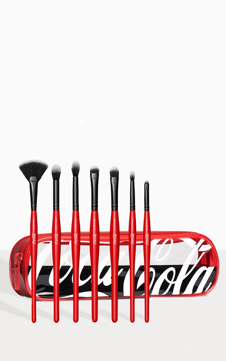 Coca-Cola X Morphe Sweep It Real 7-Piece Eye & Highlighter Brush Collection + Bag 2