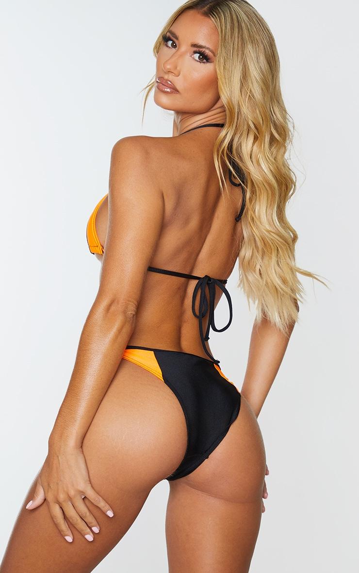 Haut de bikini noir à détail contrasté 2