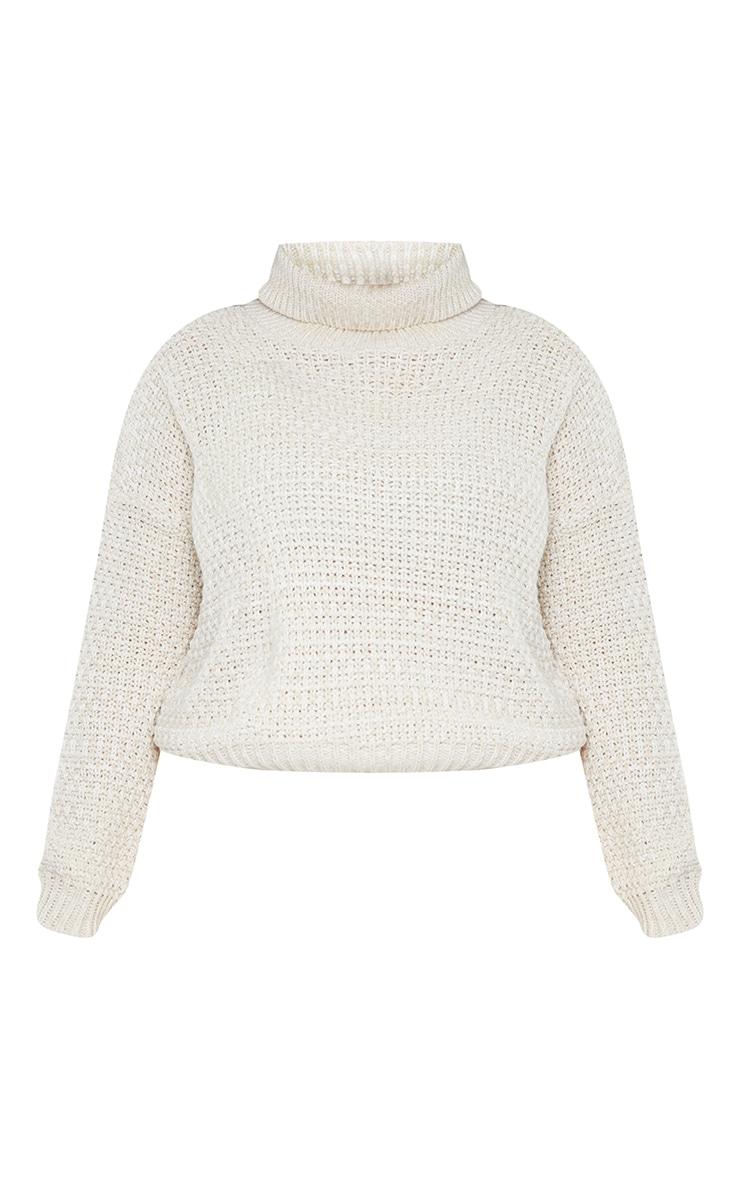 Plus Stone Fisherman Knit Roll Neck Sweater 5