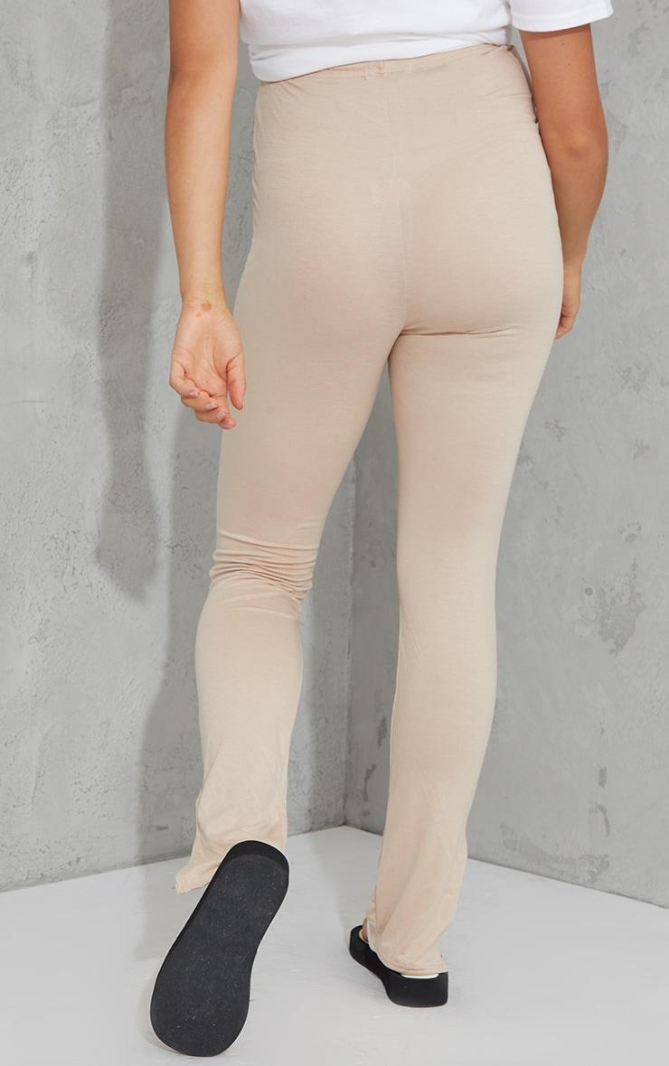 Maternity Stone Basic Split Hem Leggings 3