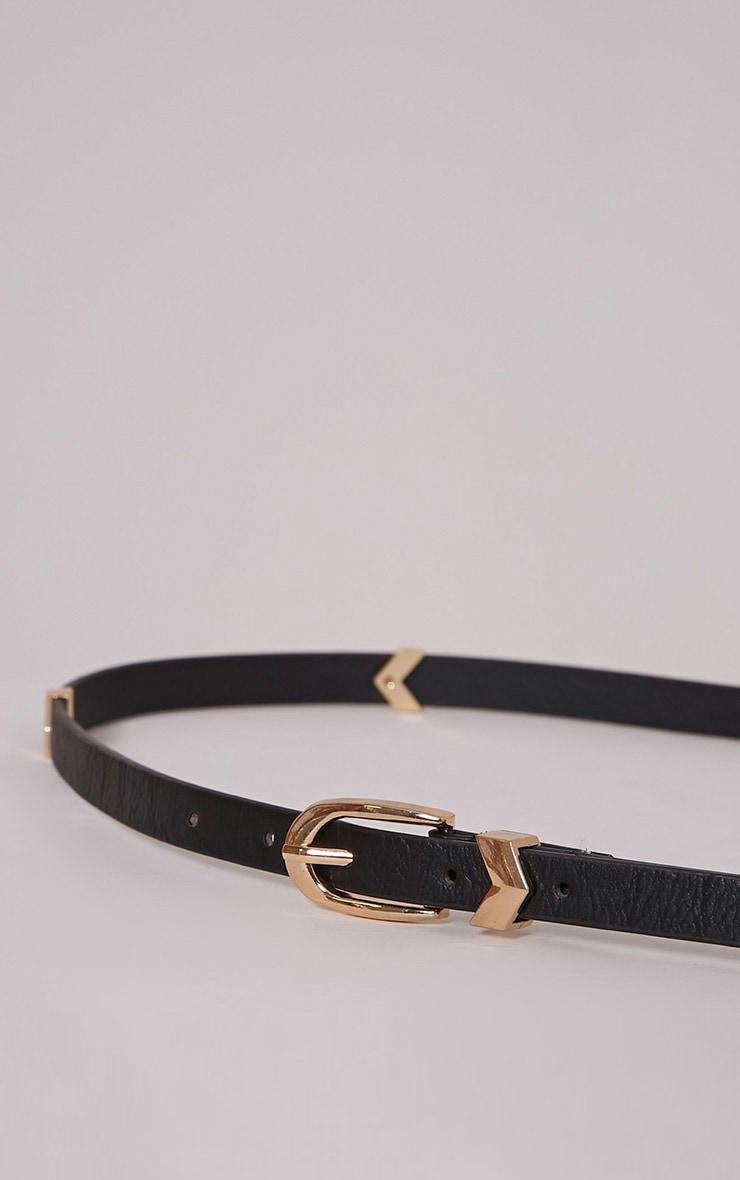 Diane Black PU Belt 2