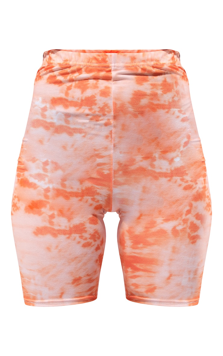 Orange Tie Dye Cycle Shorts 6