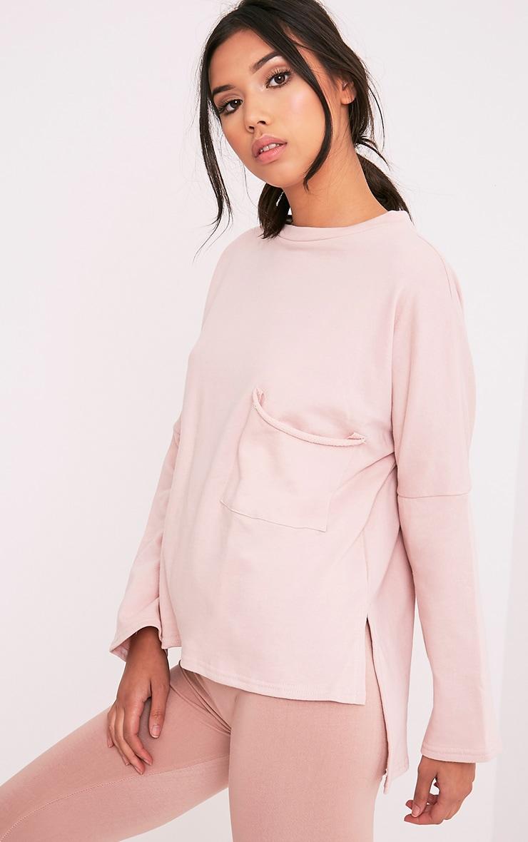 Amiele Pink Oversized Pocket Sweater 4
