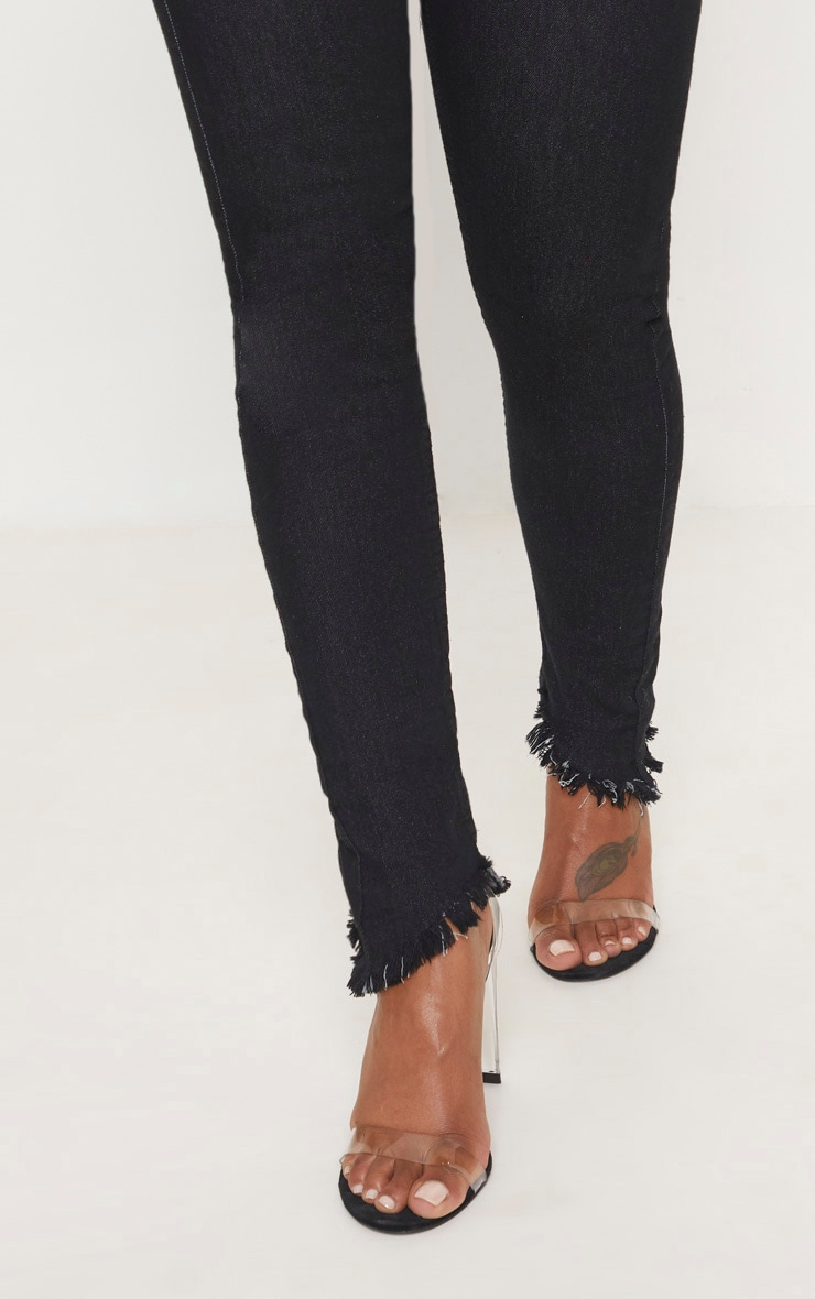 Shape Black High Waisted Skinny Jeans 6