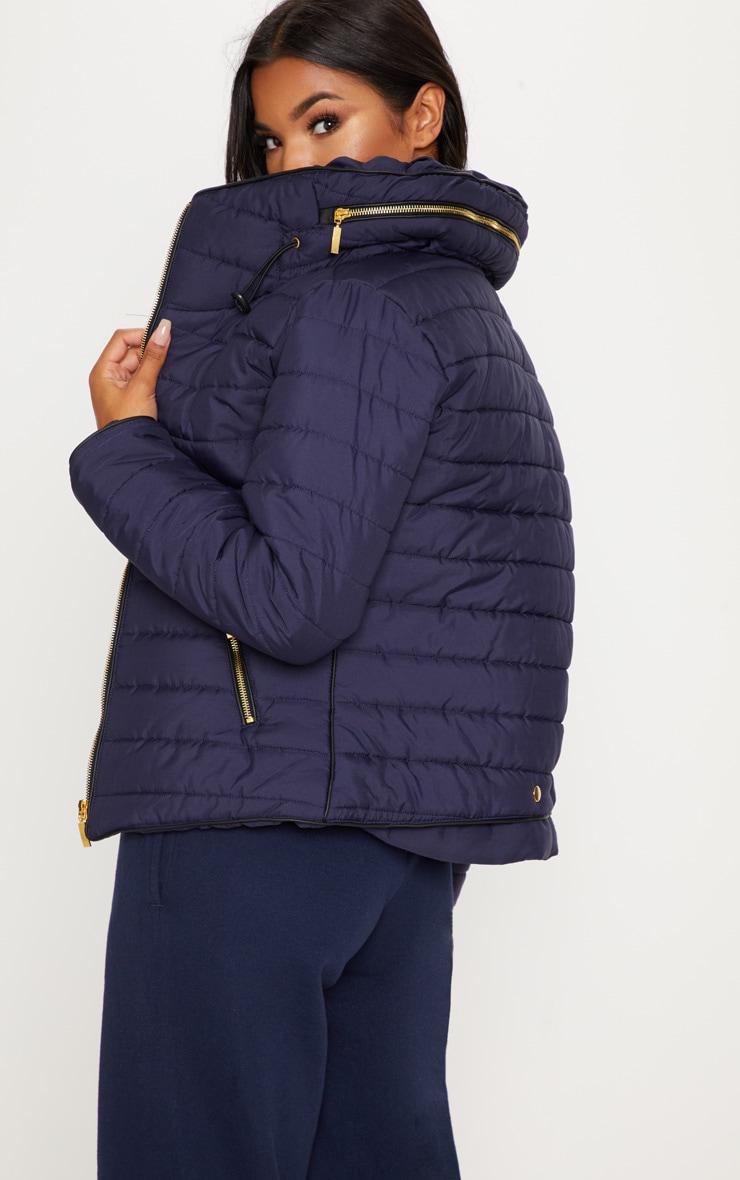 Mara Navy Puffer Jacket 2