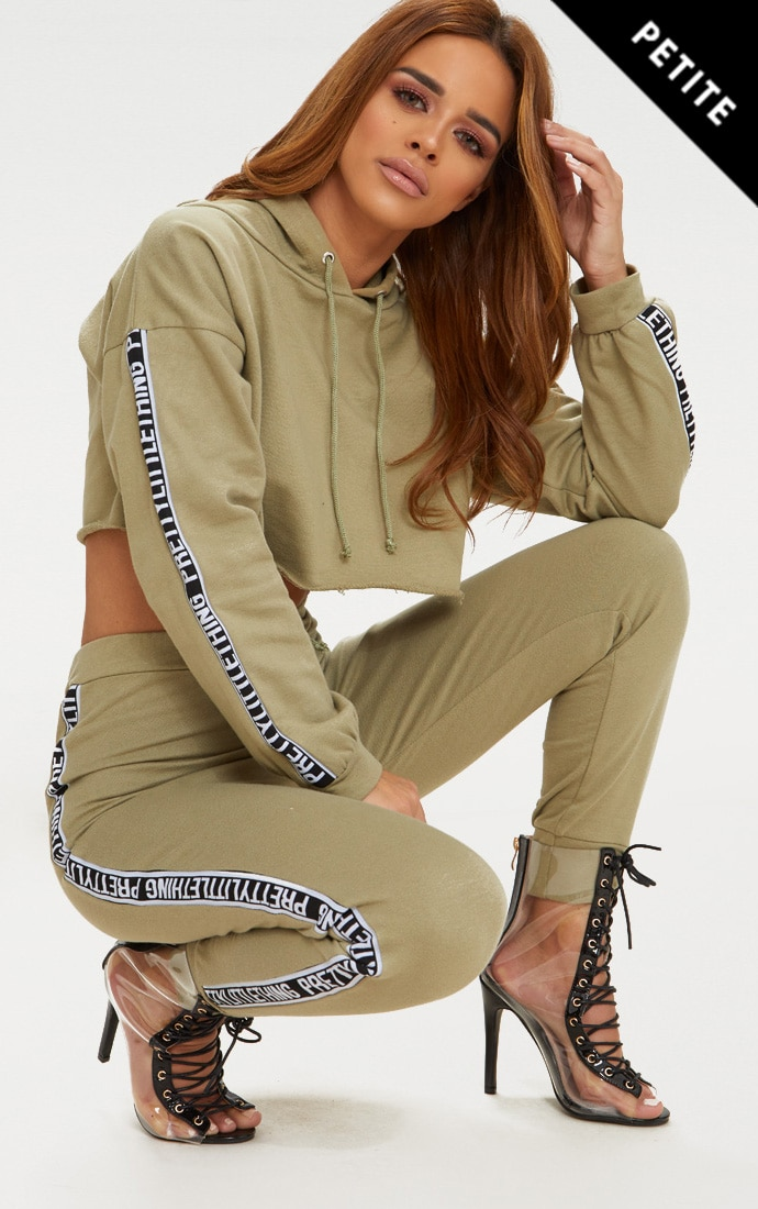 PRETTYLITTLETHING Petite Sage Joggers 1