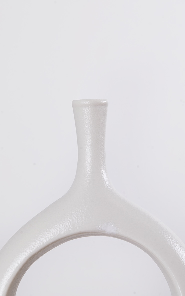White Small Cut Out Vase 5
