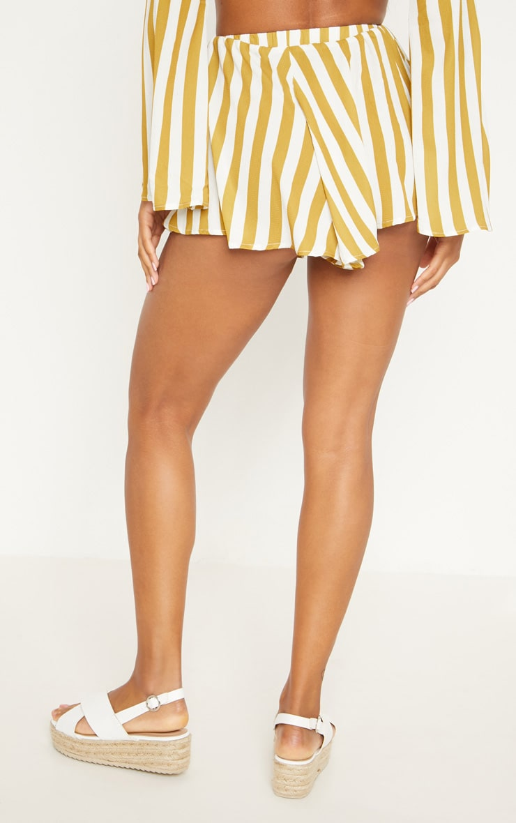 Mustard Stripe Floaty Shorts 4