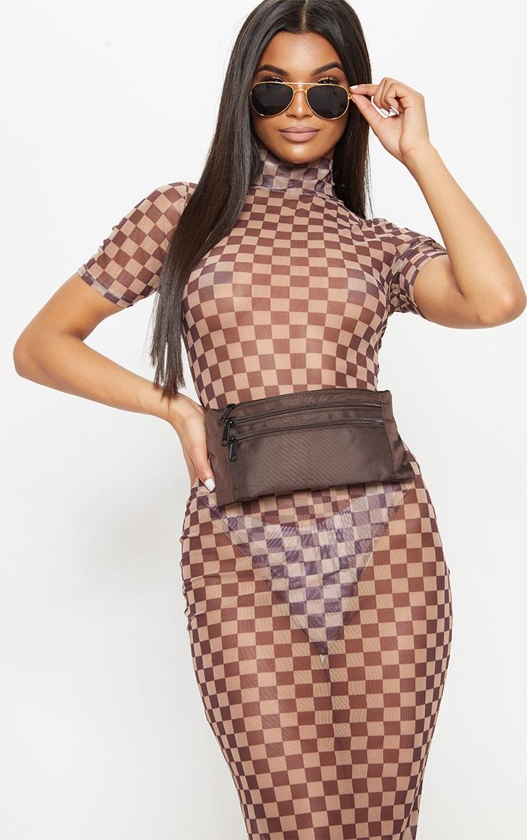 Mocha Flat Bum Bag