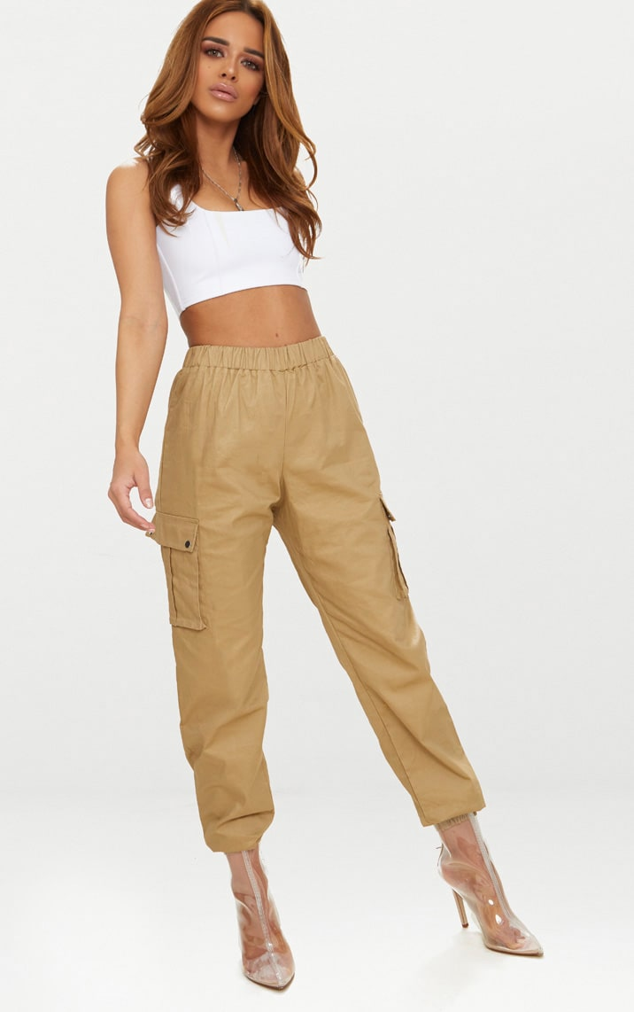 Petite Stone Pocket Detail Cargo Trousers 1