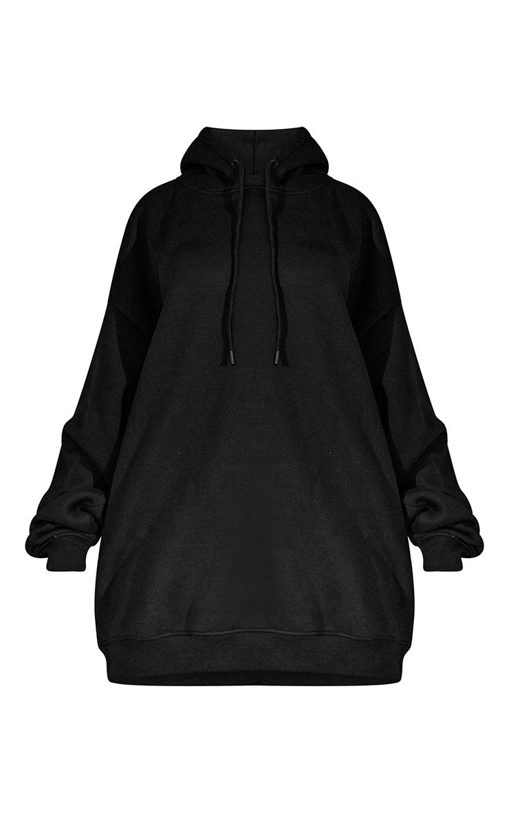 Black Oversized Hoodie Jumper Dress 6