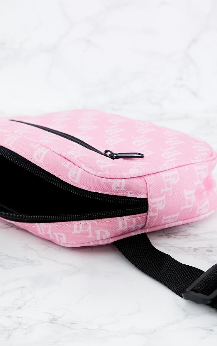 PRETTYLITTLETHING Pink Monogram Bum Bag 4