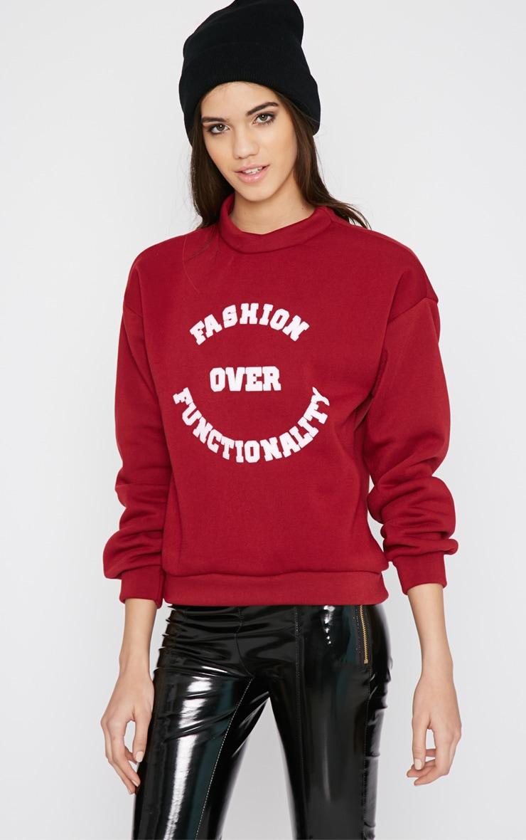 Madison Burgundy Fashion Over Functionality Sweater 4