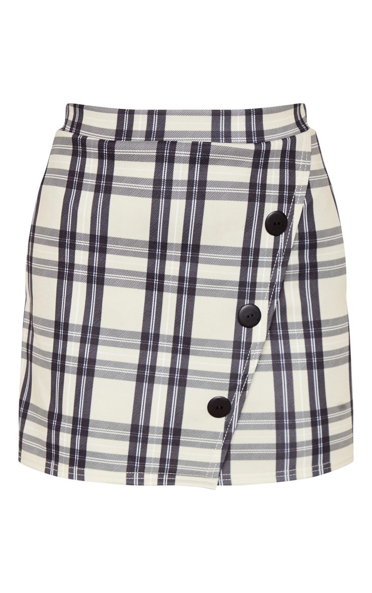 Stone Checked Button Skirt 3