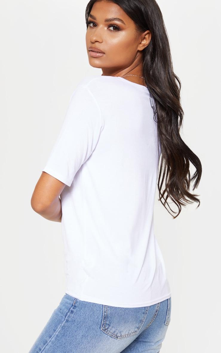 lot de 2 tee shirts basiques col en v blancs tops. Black Bedroom Furniture Sets. Home Design Ideas