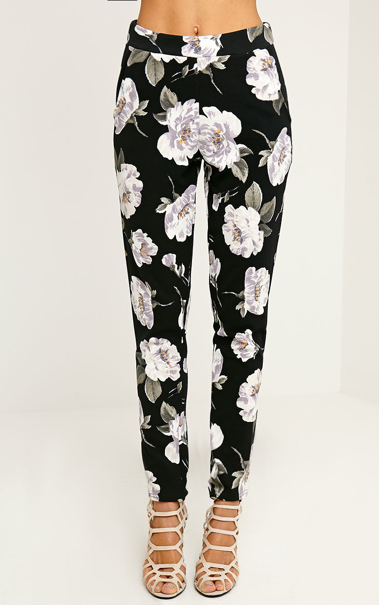 Avril Ivory Floral Printed Trousers 2