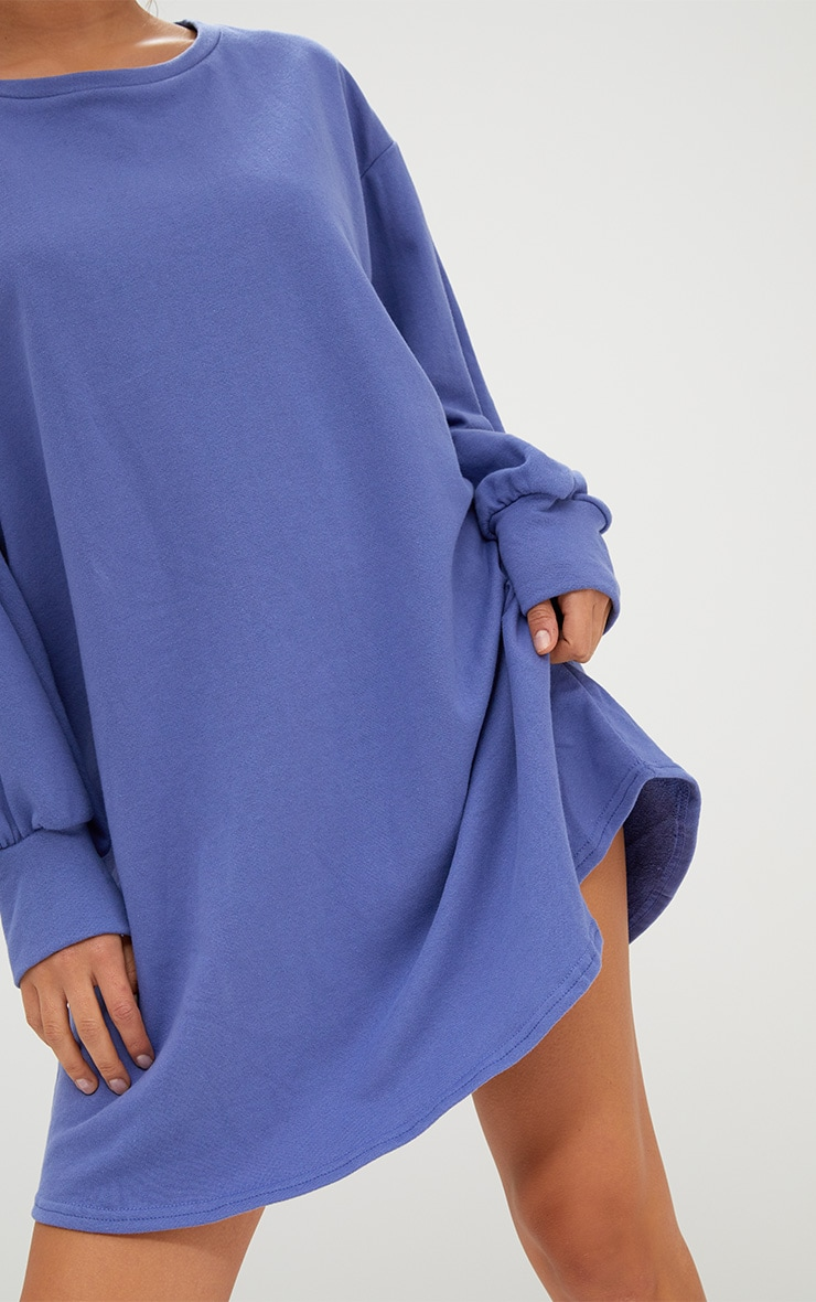 Robe sweat oversized bleue 5