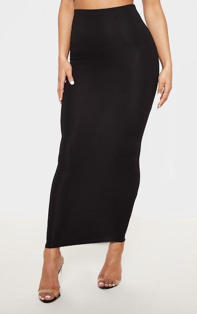 Basic Black & Grey Jersey Midaxi Skirt 2 Pack