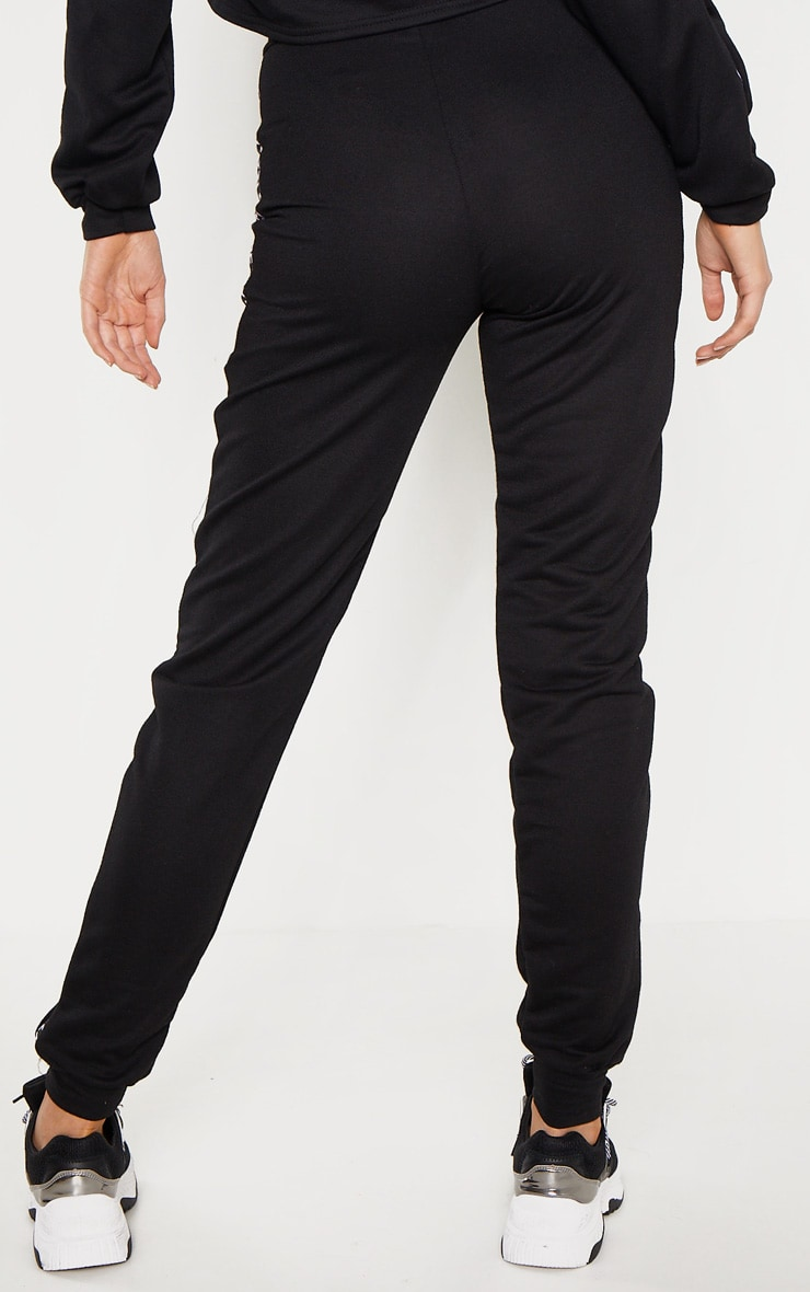 PRETTYLITTLETHING Tall Black Joggers 4