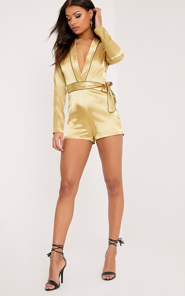 Alisha Gold Pyjama Style Playsuit 4