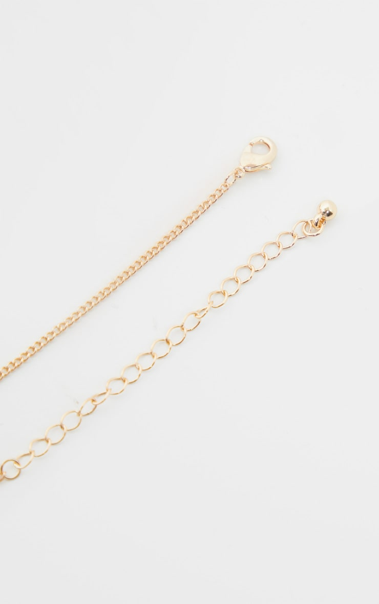 Gold Crystal Oversized Cross Necklace 4