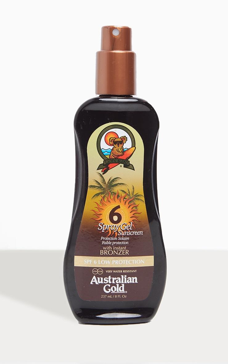 Australian Gold Spf 6 Spray Gel with Bronzer 1