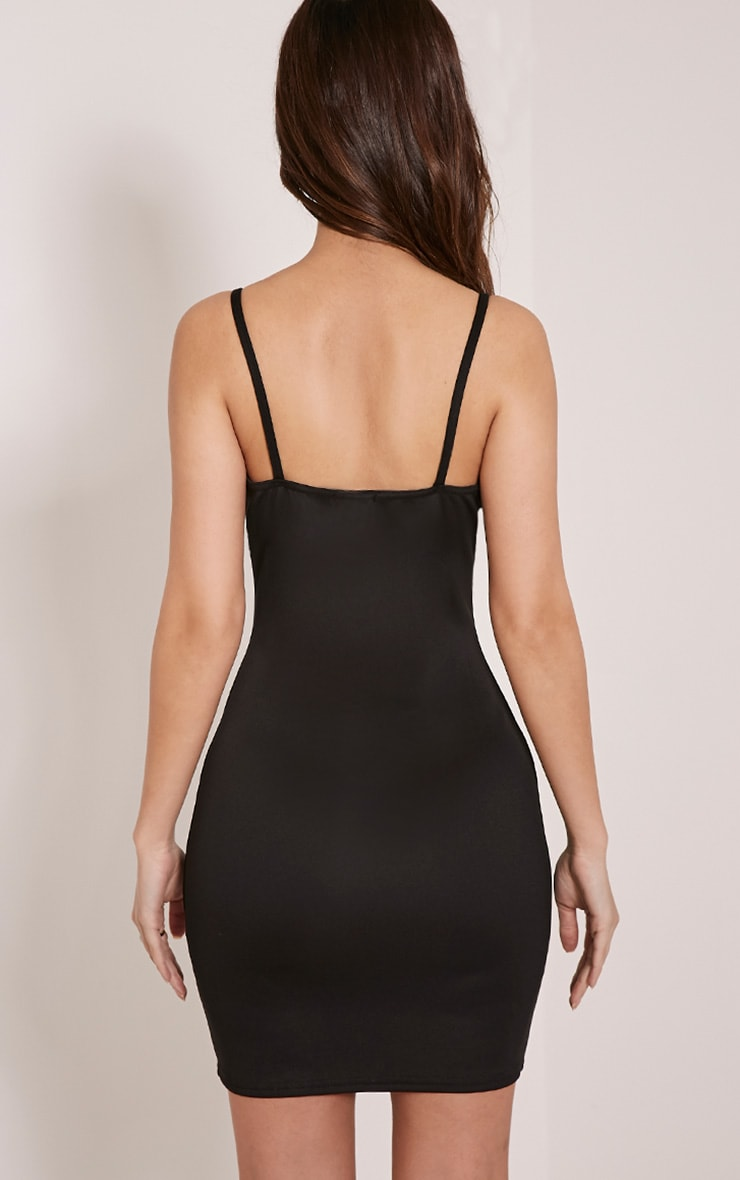 Carolina Black Double Strap Bodycon Dress 2