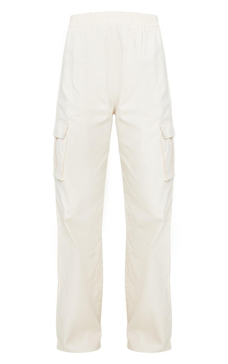 Pantalon large crème style cargo  6