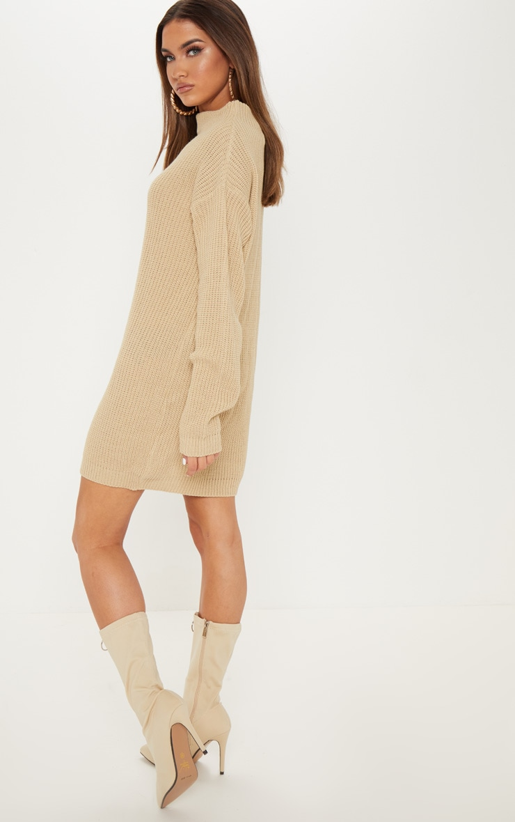 Stone Knitted Long Sleeve Dress 2