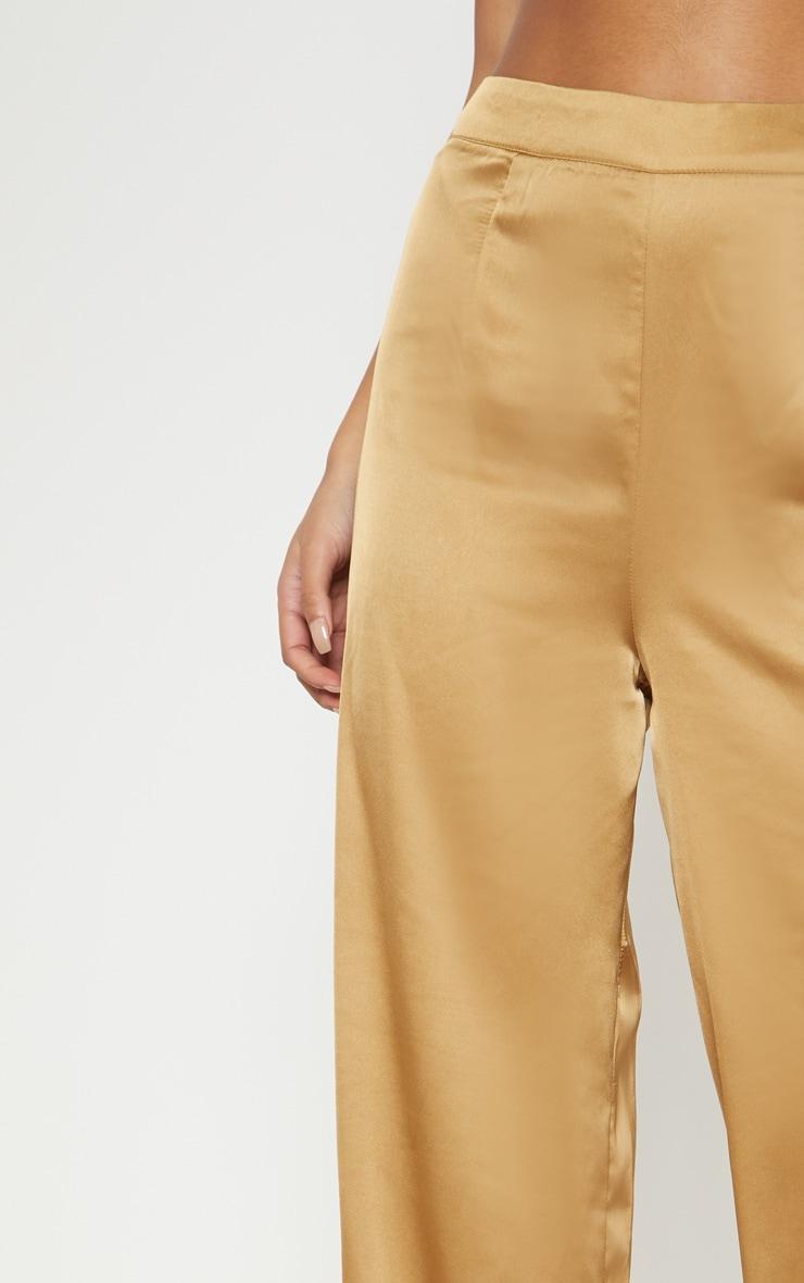 Gold Satin Wide Leg Trouser  5