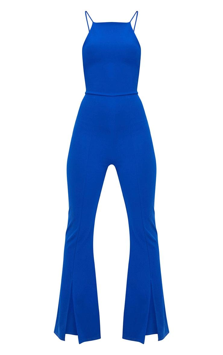 Cobalt 90's Neck Split Leg Jumpsuit 3
