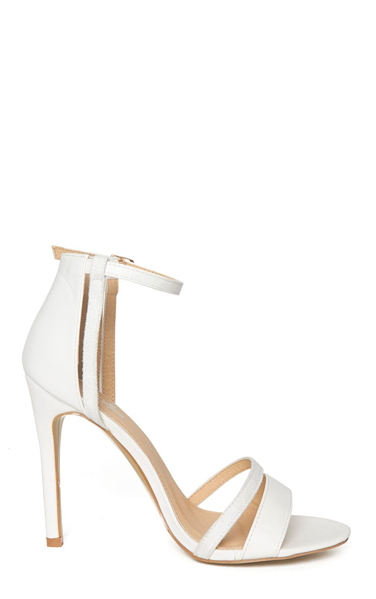Cassia White Strap Heeled Sandals 5