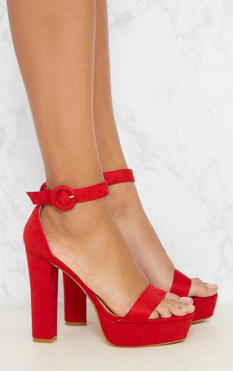 Red Platform Heel Sandal 4