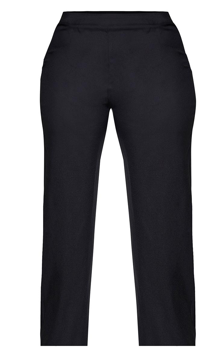Plus Black Tapered Straight Leg Pants 5