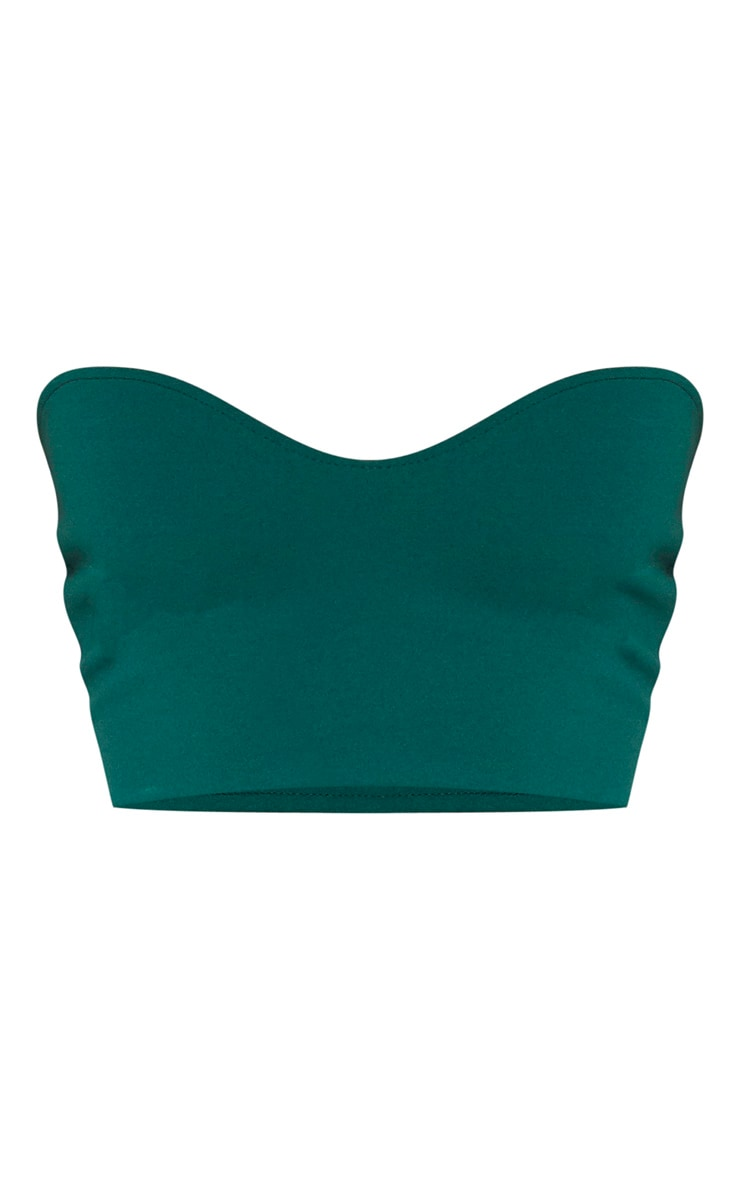 Emerald Sweetheart Bandeau Crop Top 3