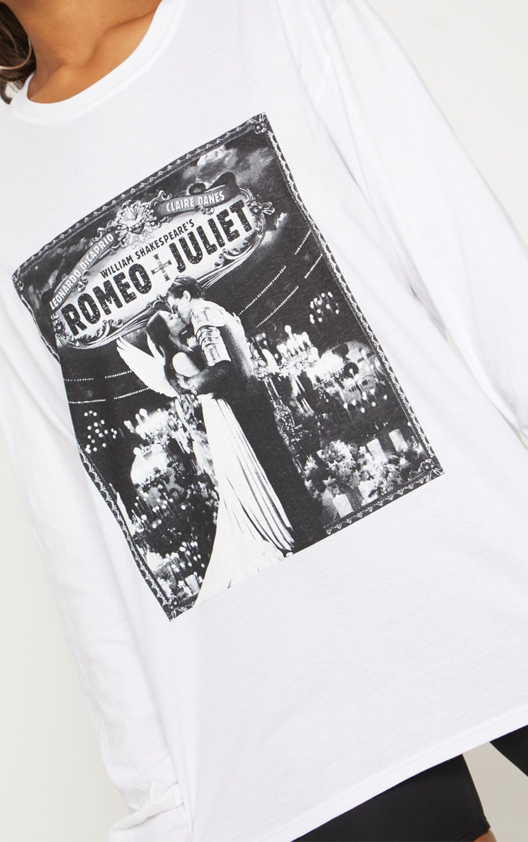 White Slogan Romeo And Juliet Long Sleeve Top 5