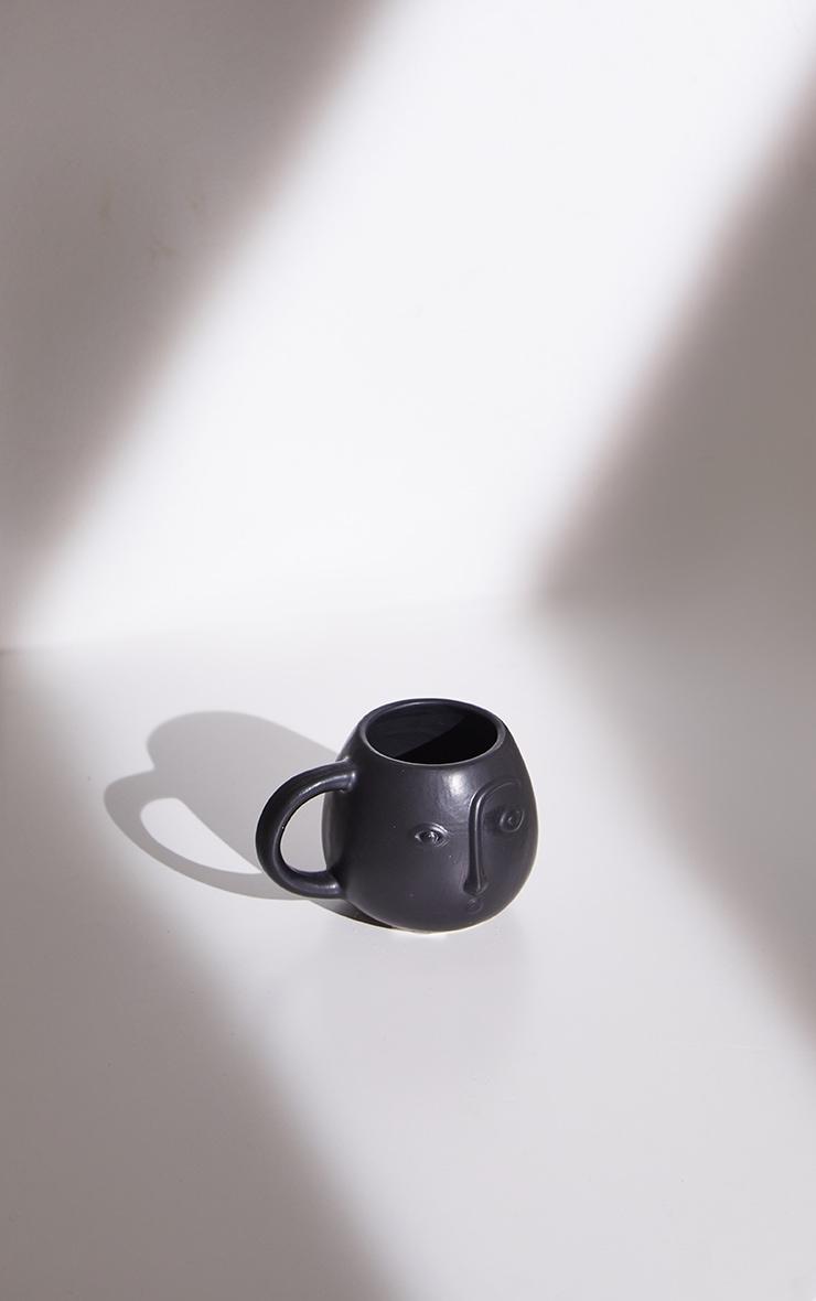 Black Abstract Face Mug 4