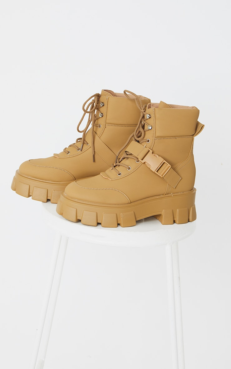 Sand Extreme Chunky Sole Buckle Clasp Hiker Boots 3