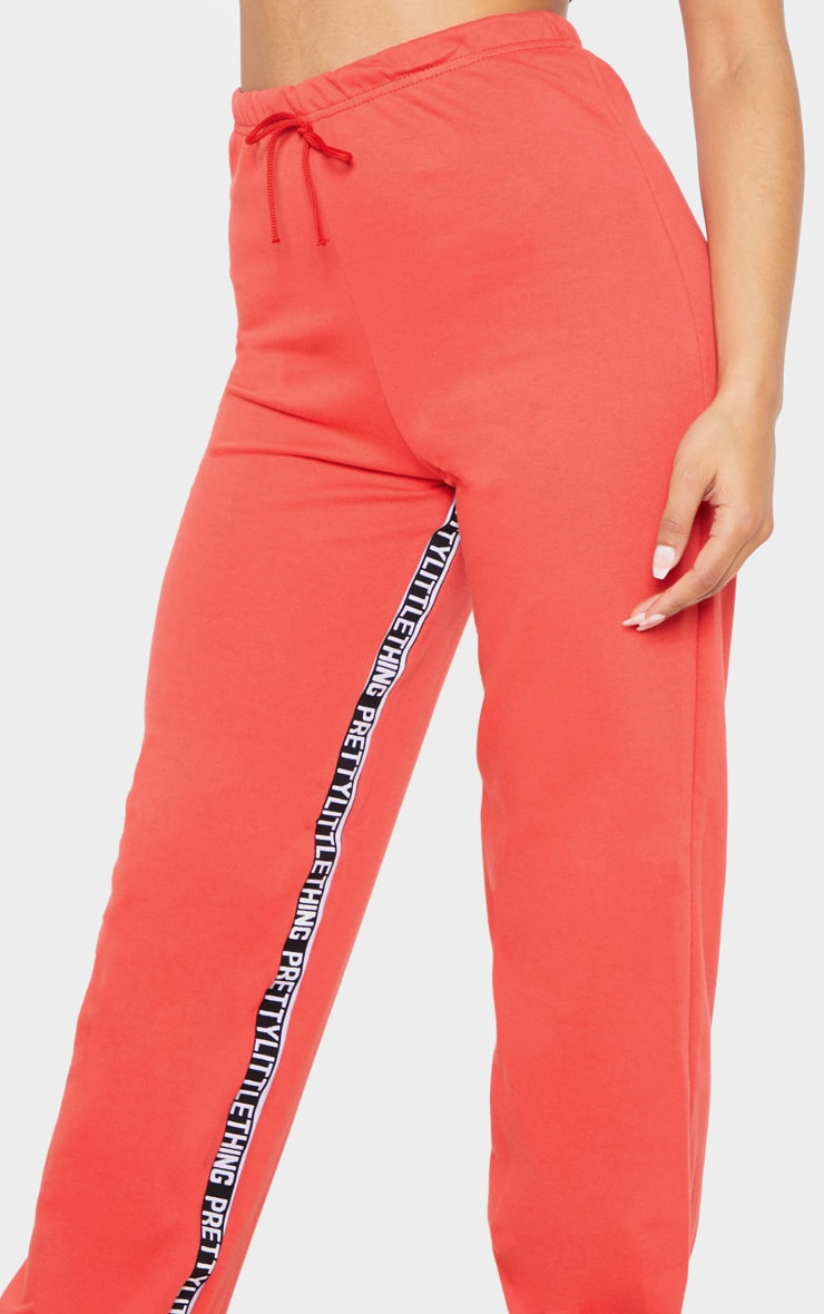 PRETTYLITTLETHING Red Track Pants 5